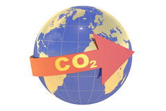 CO2 with earth globe concept Royalty Free Stock Images