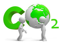 Co2 and earth Stock Image
