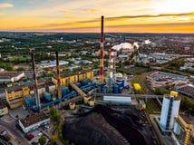 CO2-Emission in Gdansk lizenzfreies stockfoto