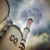 CO2-Emissionen Quelle Stockfoto