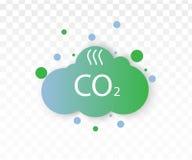 Co2 emissions icon. Cloud vector flat, carbon dioxide emits symbol, smog pollution concept, smoke pollutant damage vector illustration