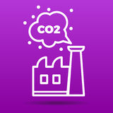 Co2 emissions icon vector illustration Royalty Free Stock Photography