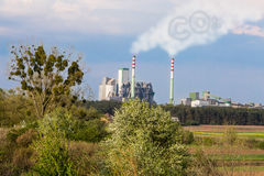 CO2 emissions to atmosphere Stock Images