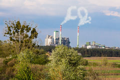 CO2 emissions to atmosphere Stock Image