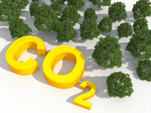 Co2 and environmental greenhouse gases concept Stock Images