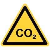 CO2 et signe de danger illustration de vecteur