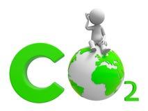 CO2 et terre Image libre de droits