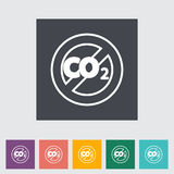 CO2 flat icon Royalty Free Stock Photography