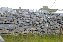Co Galway , Ireland June 2017, The Aran Islands,A wall Made of S. Tones Stock Photo