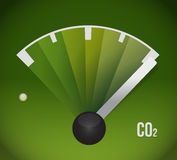 Co2 gas tank. eco friendly illustration Royalty Free Stock Photography
