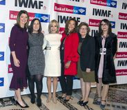 Norah O`Donnell, Elisa Lees Munoz, Andrea Mitchell, Michele Norris, Deborah Amos, and Sanyia Toiken. Co-host Norah O`Donnell, Executive Director of IWMF Elisa Royalty Free Stock Images