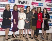 Mary McFadden, Norah O`Donnell, Andrea Mitchell, Lisa Caputo, Deborah Amos, and Sanyia Toiken Stock Photo