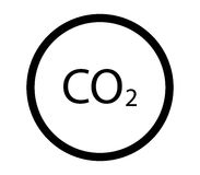Co2 icon illustrated Royalty Free Stock Photography