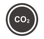 Co2 icon illustrated Stock Image