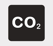 Co2 icon illustrated Stock Photography