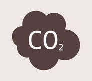 Co2 icon illustrated Stock Photos