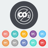 CO2 icon Stock Photo