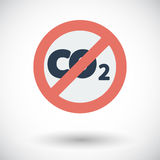 CO2 icon Royalty Free Stock Images