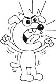 Cão irritado Fotos de Stock Royalty Free