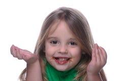 Co jadł czekoladę Obraz Stock