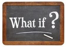 Co jeżeli pytanie na blackboard Fotografia Stock