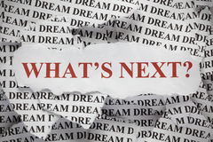 co jest następny? zdjęcie royalty free