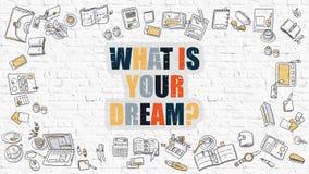 Co Jest Twój sen na Białym ściana z cegieł Obraz Stock
