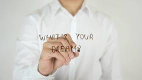 Co jest Twój sen? , Pisać na szkle Zdjęcia Stock