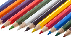 Co-loured pen Royalty Free Stock Photo