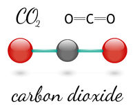 CO2 molecule Stock Image