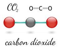 CO2 molecule Stock Image