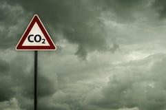 CO2 no roadsign Imagem de Stock Royalty Free