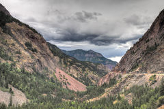 CO-old logging and mining road outside of Ouray Royalty Free Stock Images