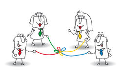 Co-ontwikkeling royalty-vrije illustratie