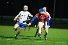 Co-Op Superstores Munster Hurling League 2019 match between Cork and Waterford at Mallow GAA Sports Complex. January 2nd, 2018, Mallow, Ireland - Co-Op stock photography
