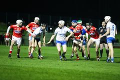 Co-Op Superstores Munster Hurling League 2019 match between Cork and Waterford at Mallow GAA Sports Complex. January 2nd, 2018, Mallow, Ireland - Co-Op stock image