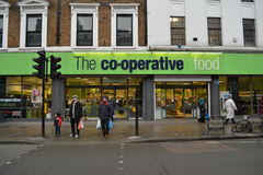 The co-operative food store Royalty Free Stock Photo