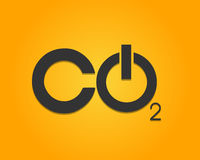 CO2 Power Button. Abstract Background vector illustration