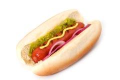Cão quente grelhado Fotografia de Stock Royalty Free