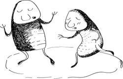 Co są mną, prędkości rysunkowa kreskówka Royalty Ilustracja