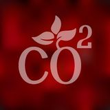 Co2 sign dioxide icon on blurred background Stock Photos