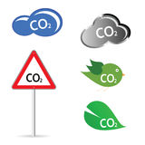 Co2 sign  illustration Stock Image