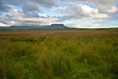 Co.Sligo. Benbulben mountain seen from Streedagh Strand in Co.Sligo, Ireland Royalty Free Stock Photos