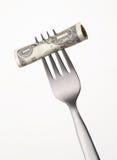 Coût d'argent. Image libre de droits
