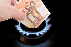 Coût de gaz Photos stock