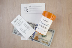 Coût de prescription images stock