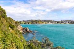 Coût rocheux au Nouvelle-Zélande Photos libres de droits