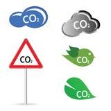 CO2teckenillustration Fotografering för Bildbyråer