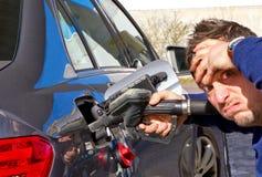 Coûts élevés de gaz Image libre de droits