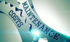 Coûts de maintenance le mécanisme des vitesses de dent en métal 3d Photos stock